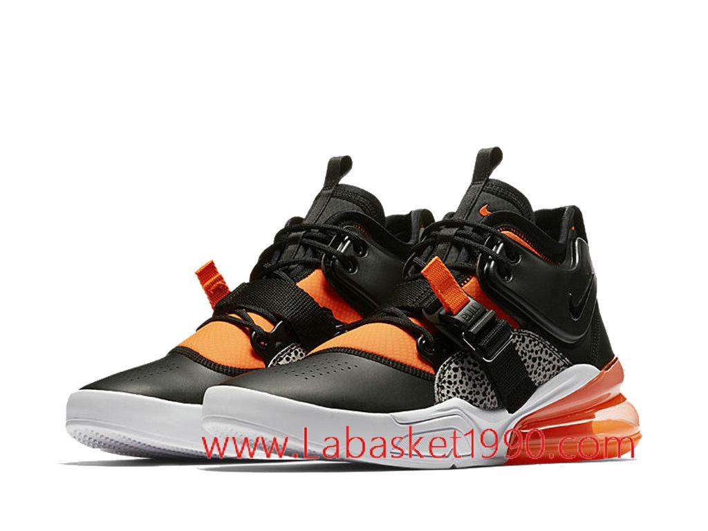 pretty nice efe8d af943 ... Nike Air Force 270 Safari AH6772-004 Chaussures Nike 2018 Pas Cher Pour Homme  Noir ...