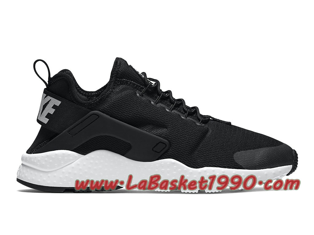 new concept 47487 fb386 Nike Air Huarache Ultra 819151 001 Chaussures Nike 2018 Pas Cher Pour Femme  Enfant Noir Blanc