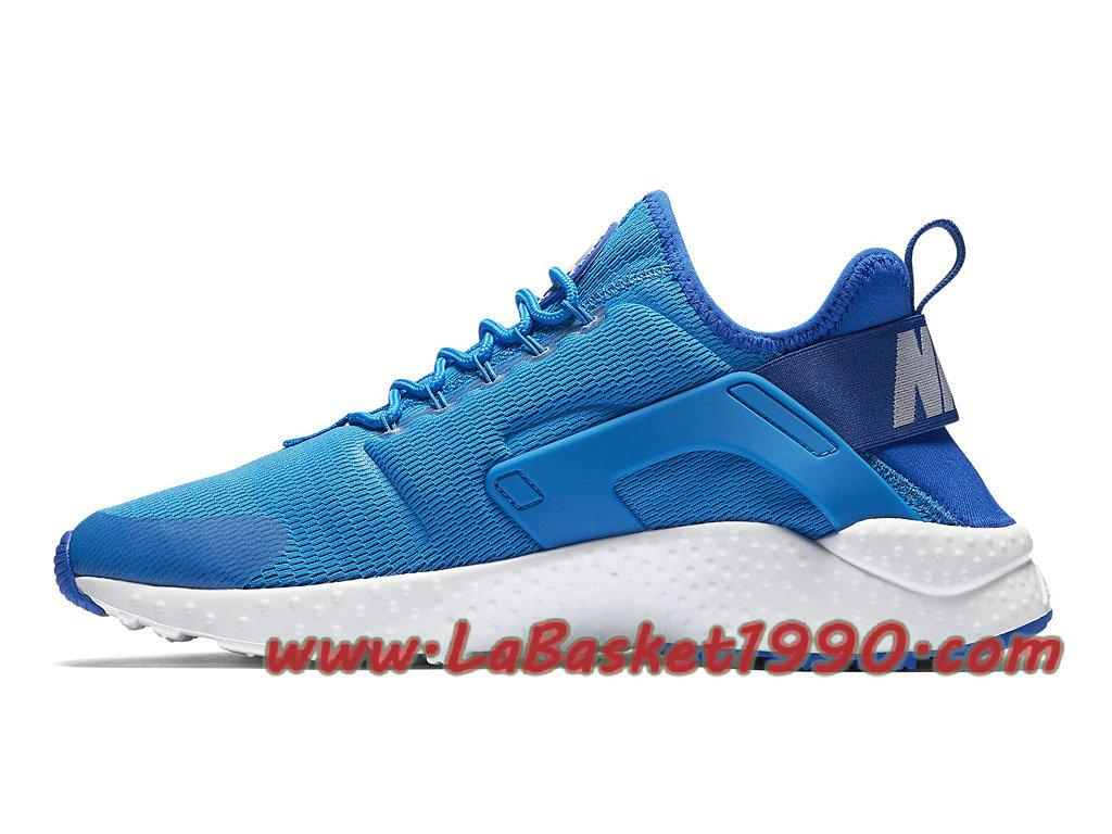 ... Nike Air Huarache Ultra 819151_400 Chaussures Nike Huarache Pas Cher Pour Femme/Enfant Bleu Blanc ...
