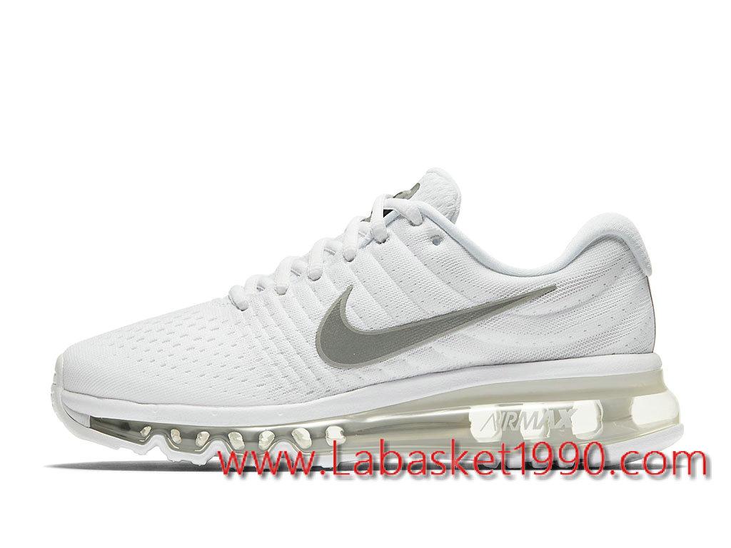 6f492da243fcd Nike Air Max 2017 GS Chaussures Nike Prix Pas Cher Pour Femme Enfant Blanc  Gris