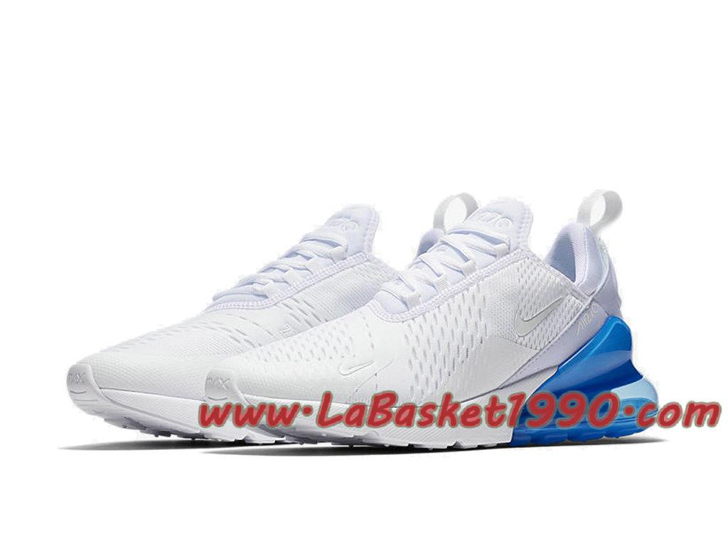 ... Nike Air Max 270 Chaussures Officiel 2018 Pas Cher Pour Homme Blanc Bleu AH8050-105 ...