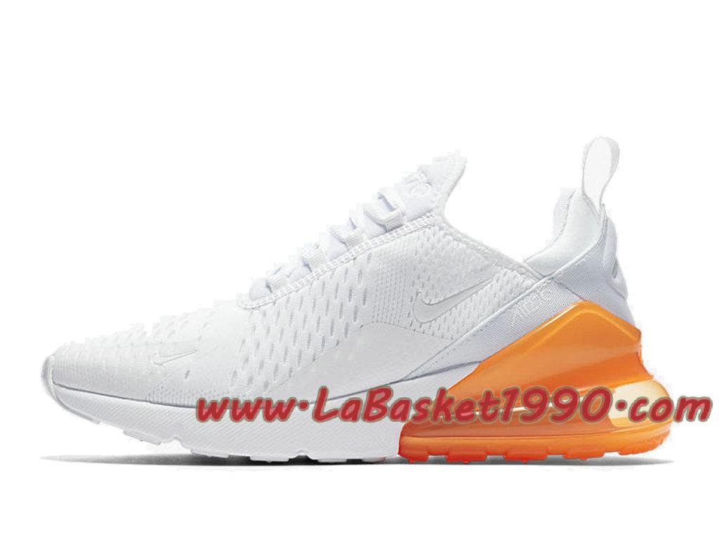 ... Nike Air Max 270 Chaussures Officiel 2018 Pas Cher Pour Homme Blanc Orange AH8050-102 ...