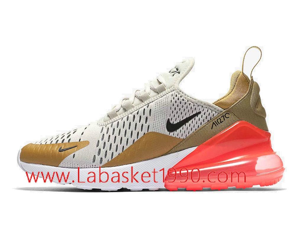 promo code a6e38 66343 Nike Air Max 270 Flight Gold AH6789-700 Chaussures Officiel Basket Pas Cher Pour  Homme