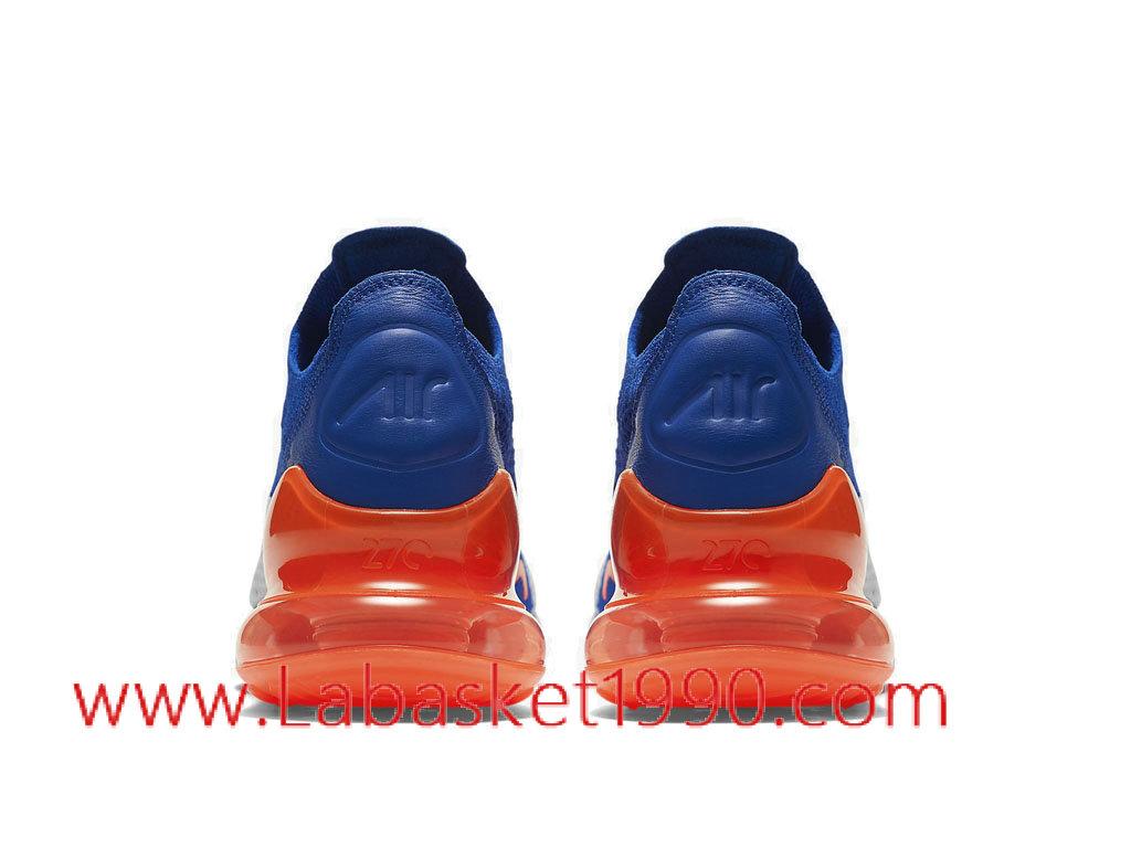 d993342af3b ... czech nike air max 270 flyknit chaussures de running nike pas cher pour  homme bleu blanc