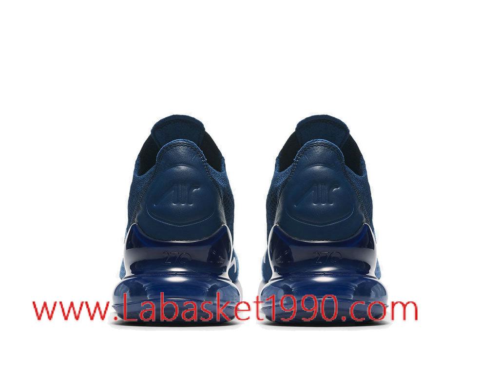 outlet store 46bf5 a3fe3 ... Nike Air Max 270 Flyknit Chaussures de Running Nike Pas Cher Pour Homme  Bleu Noir AO1023