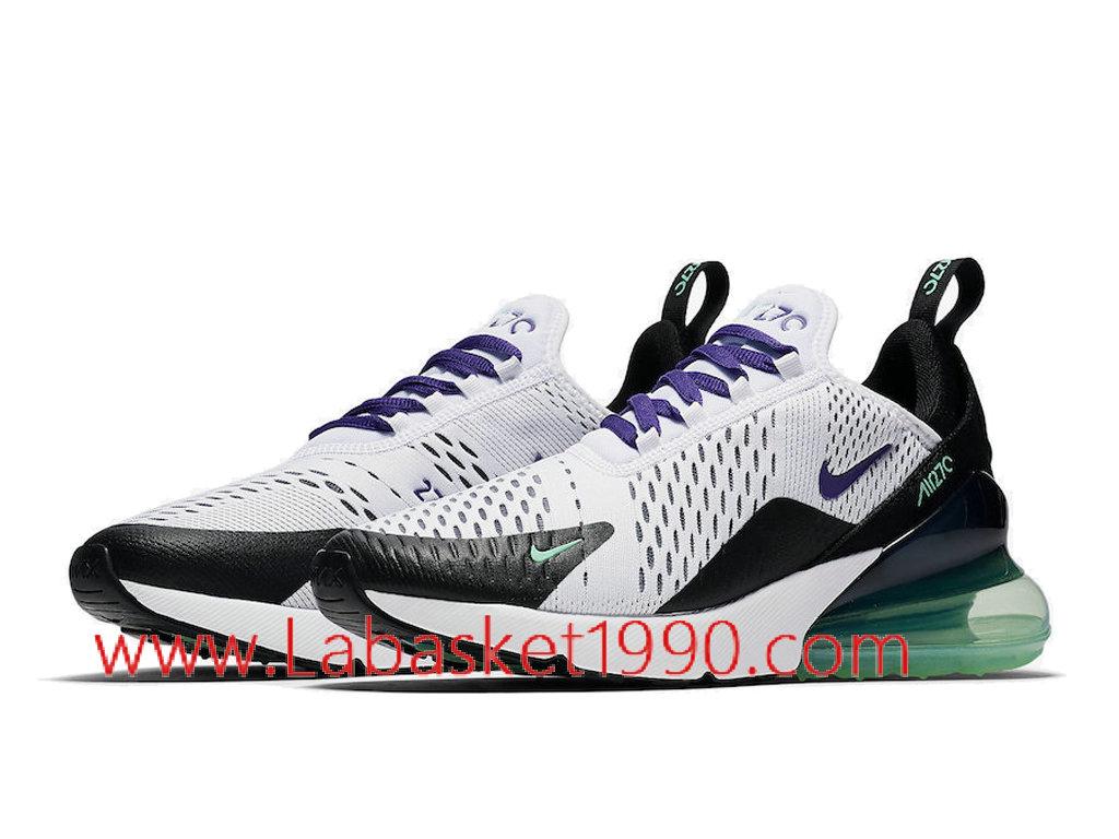 check out f83b7 3340f ... Nike Air Max 270 Grape AH6789-103 Chaussures Officiel Prix Pas Cher  Pour Homme Blanc ...