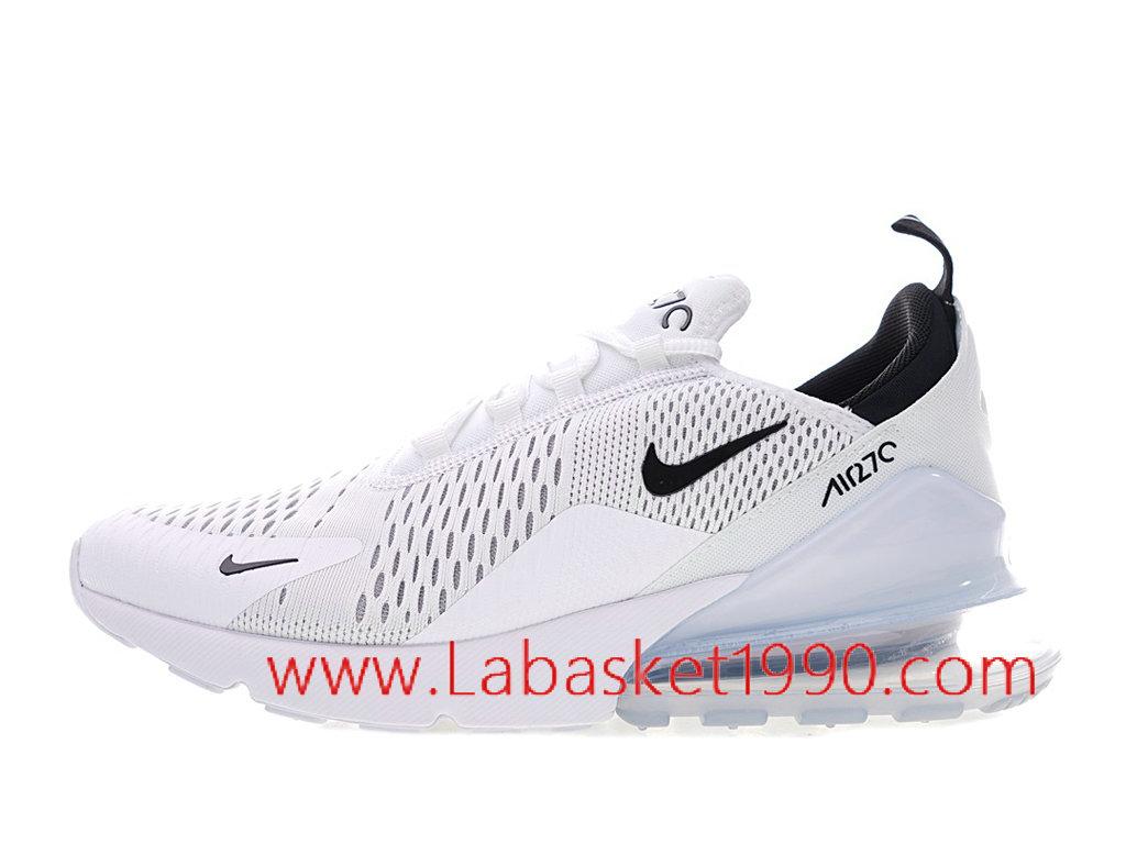 be2ce11c0acf Nike Air Max 270 GS Chaussure de Running Pas Cher Pour Femme Enfant Blanc  Noir