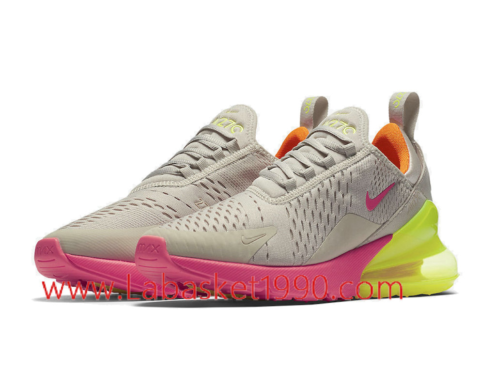 ... Nike Air Max 270 Neon AH6789-005 Chaussures Officiel Prix Pas Cher Pour Homme Gris ...