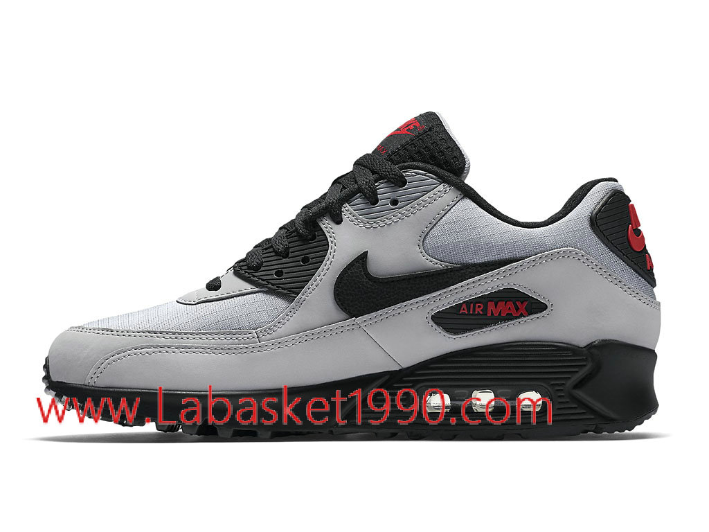 ... Nike Air Max 90 Essential 537384_049 Chaussures de Running Pas Cher Pour Homme Gris Noir ...