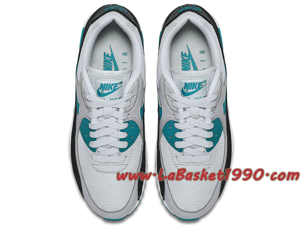 new product 10eda 4c206 ... Nike Air Max 90 Essential GS Chaussures Officiel Pas Cher Pour Femme Enfant  Gris Bleu ...