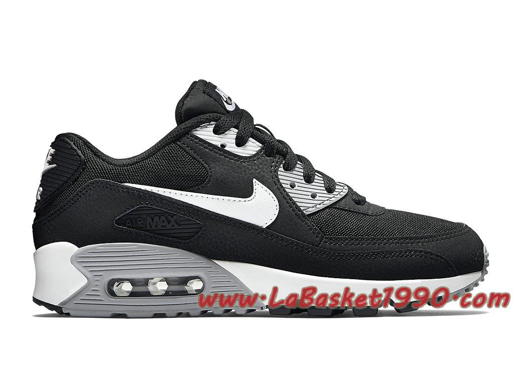 huge selection of 20d63 2814a Nike Air Max 90 Essential GS Chaussures Officiel Pas Cher Pour Femme Enfant  Noir Blanc