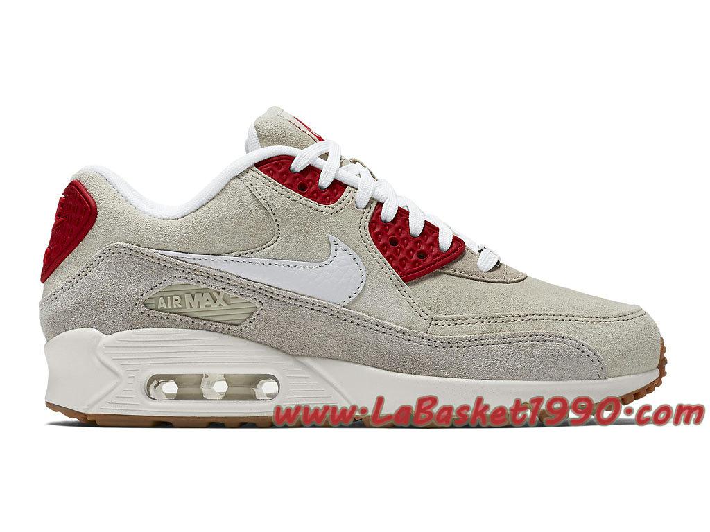 best sneakers b2e7d ec326 Nike Air Max 90 QS GS Chaussures Nike Prix Pas Cher Pour Femme Enfant Gris