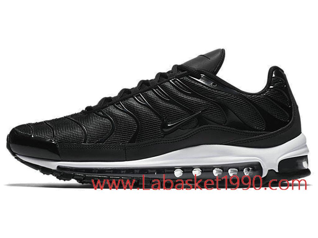 Nike Air Max 97 Plus AH8144 001 Chaussures Nike Sportswear Pas Cher Pour Homme  Noir Blanc ... a9577a3a0d70