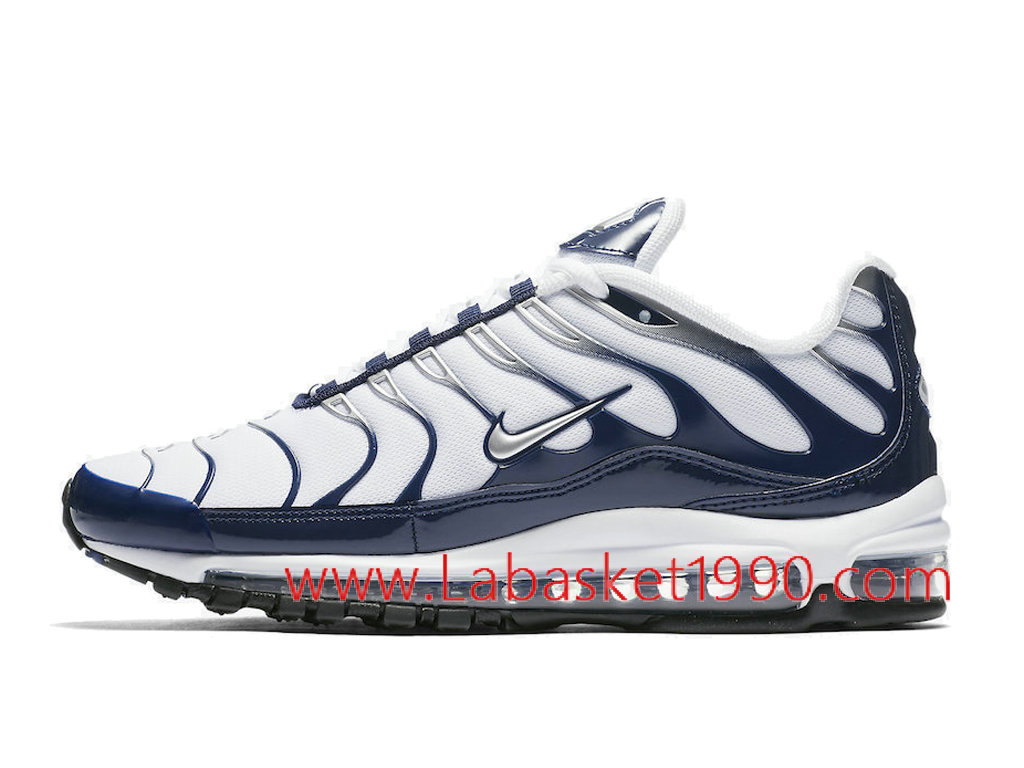 b657d1827aab30 Nike Air Max 97 Plus Men´s Officiel Prix Pas Cher Shoes Blue White AH8144