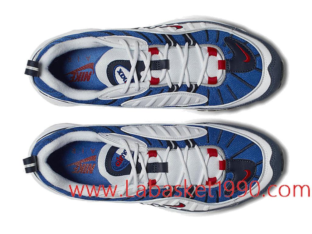 Nike Air Max 98 Gundam Chaussures Prix Pas Cher Pour Homme Bleu Blanc Rouge 640744_100