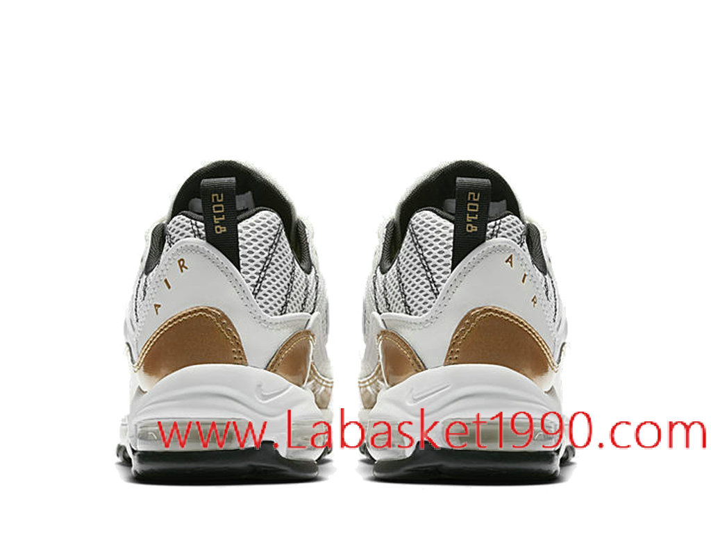 Nike Air Max 98 UK Prime Meridian AJ6302 100 Chaussures Nike Basket Pas Cher Pour Homme Blanc Or 1802251207 Chaussure Basket Homme Nike | Nike