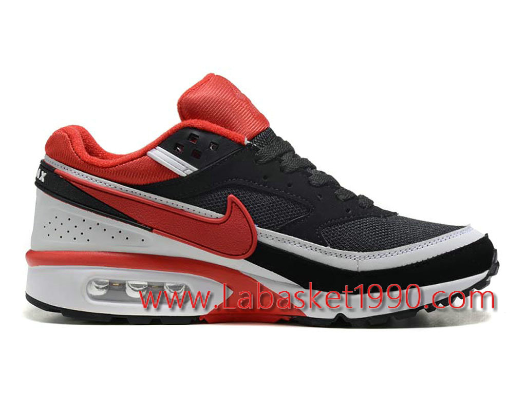 on sale bf6ce 1ab71 Nike Air Max BW 819475_A004 Chaussures Nike Prix Pas Cher Pour Homme Noir  Rouge Blanc ...