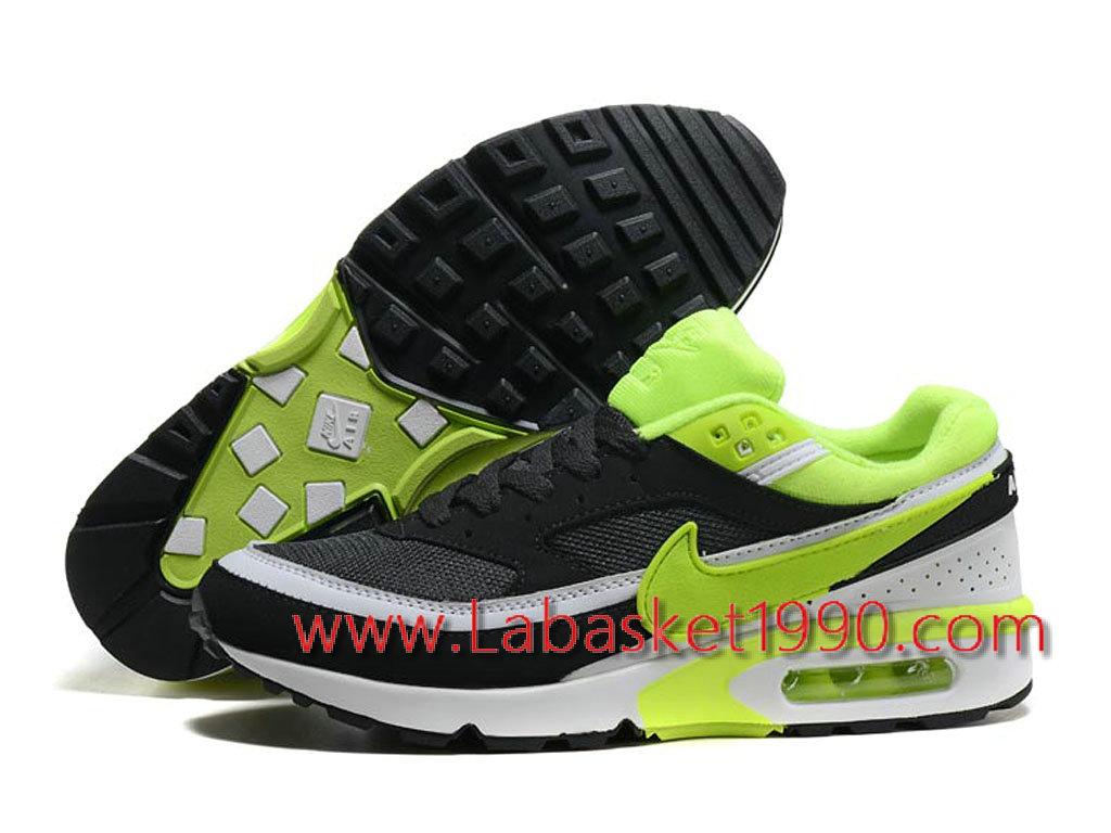 separation shoes 3e179 9a4c5 ... Nike Air Max BW 819475 A006 Chaussures Nike Prix Pas Cher Pour Homme  Noir Vert