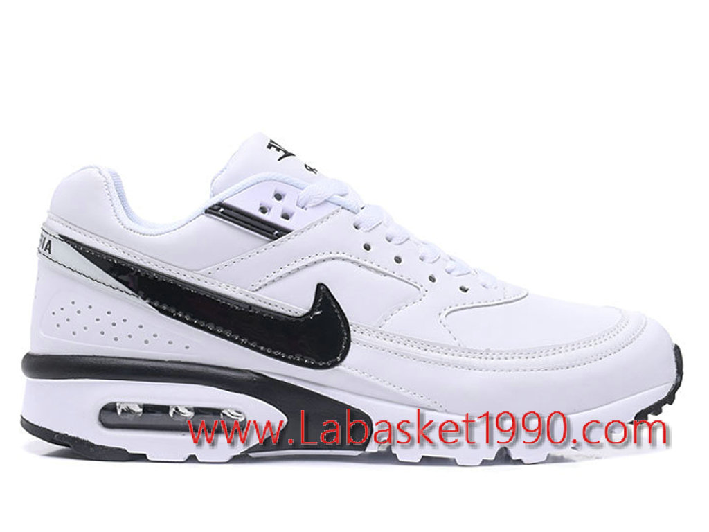 3be07a1ac770 Nike Air Max BW 819475_A009 Chaussures Nike Prix Pas Cher Pour Homme Blanc  Noir ...