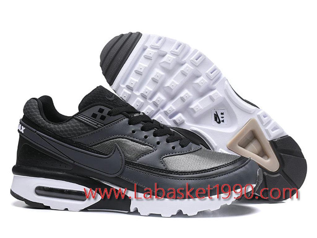huge discount 842f7 a9420 ... Nike Air Max BW 819475 A010 Chaussures Nike Prix Pas Cher Pour Homme  Noir Blanc ...