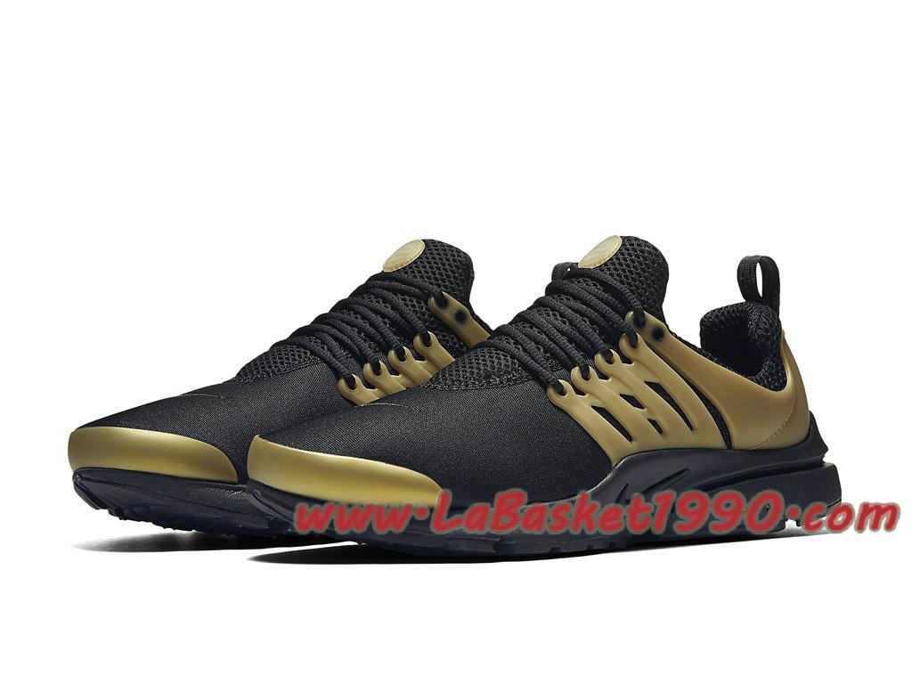 061b15501 ... Nike Air Presto Essential 848187_007 Chaussures de BasketBall Pas Cher  Pour Homme Noir Or ...