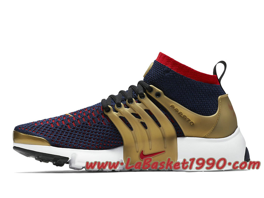 pretty nice 68098 3f350 ... Nike Air Presto Ultra Flyknit Olympic 835570 406 Chaussures Nike Prix  Pas Cher Pour Homme Noir Or ...