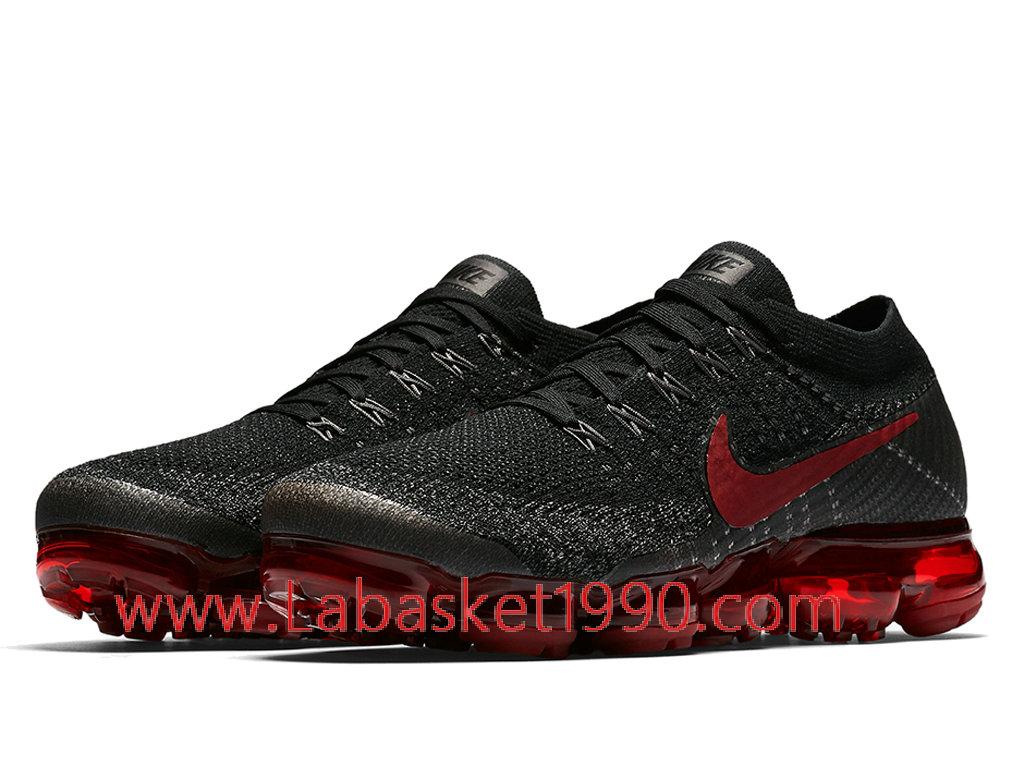 22840fbc49272 ... Nike Air VaporMax Bred 849558-013 Chaussures Prix Pas Cher Pour Homme  Rouge