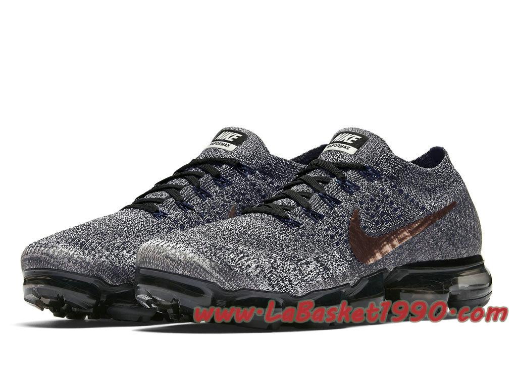 Nike Air Vapormax Run Utility noire grise et rouge on feet