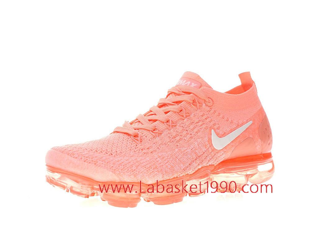 detailed look 7af1d 417ef ... Nike Air VaporMax Flyknit 2 crimson pulse Chaussure de Running Pas Cher  Pour Femme Enfant ...