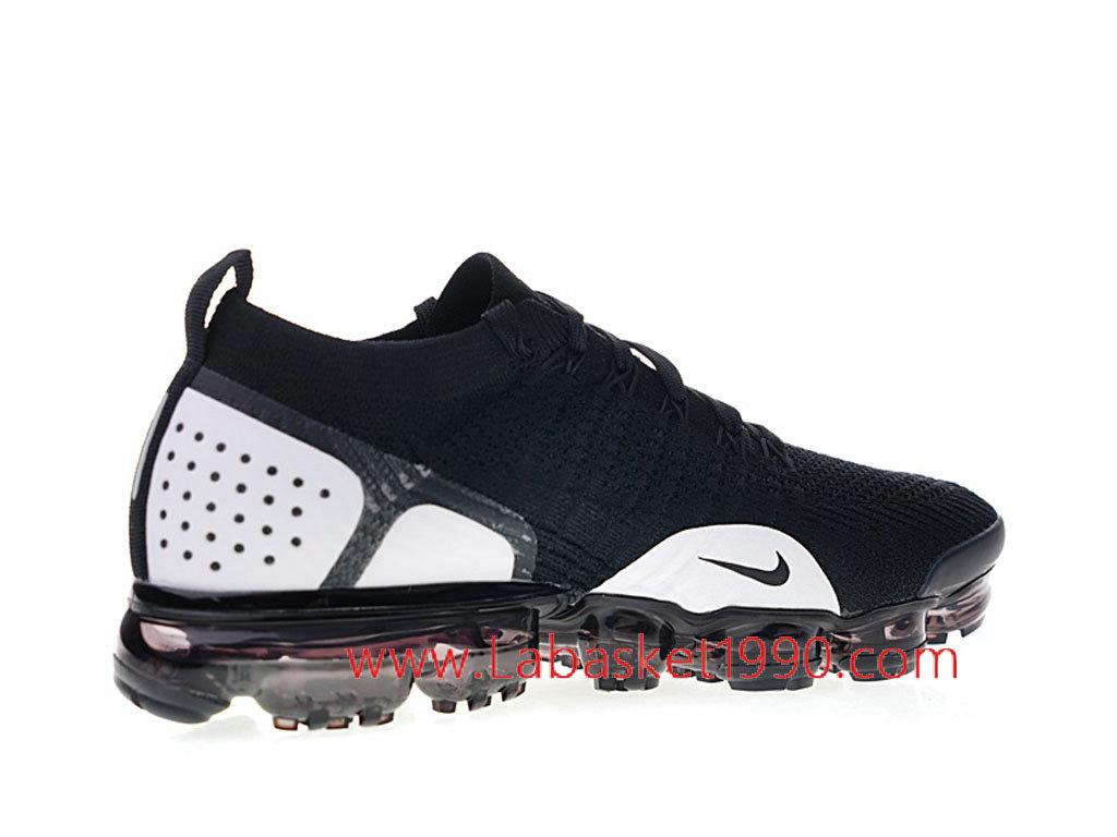 1029910e27 ... Nike Air VaporMax Flyknit 2.0 W Chaussures Officiel 2018 Pas Cher Pour  Homme Noir Blanc 942842 ...