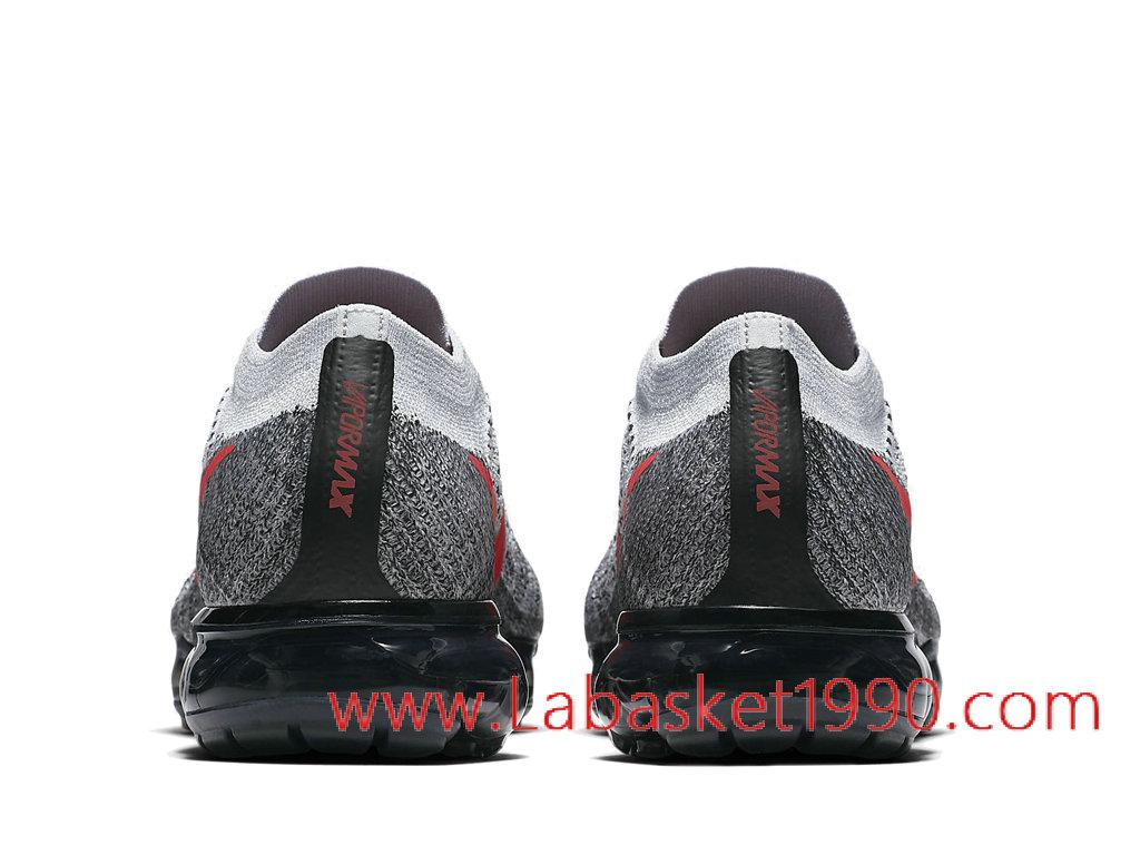 newest 33c9a 5964f ... Nike Air VaporMax Flyknit 849558-020 Chaussures de BasketBall Pas Cher  Pour Homme Gris Rouge