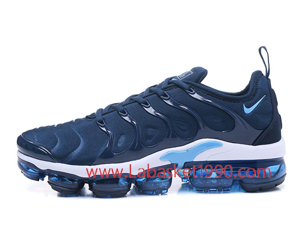55b1fc7820e Nike Air VaporMax Plus AO4550-ID10 Chaussures Nike Officiel Pas Cher Pour  Homme Bleu Blanc