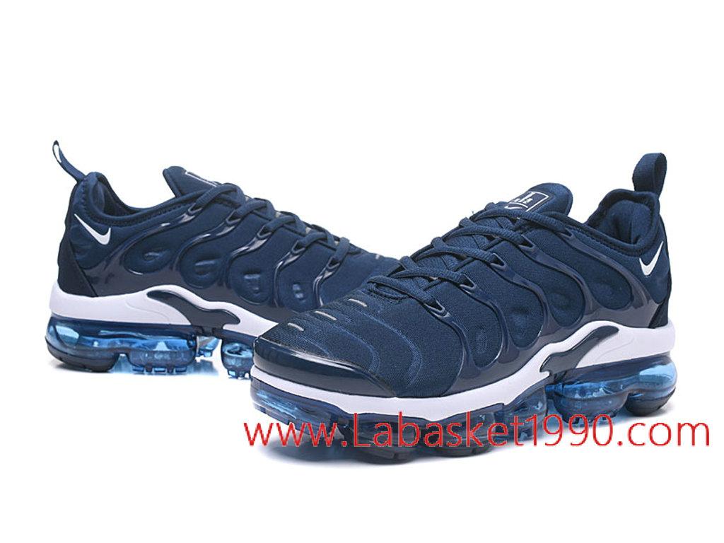 premium selection b89ab 006d4 ... Nike Air VaporMax Plus AO4550-ID5 Chaussures Nike 2018 Pas Cher Pour  Homme Bleu Blanc ...