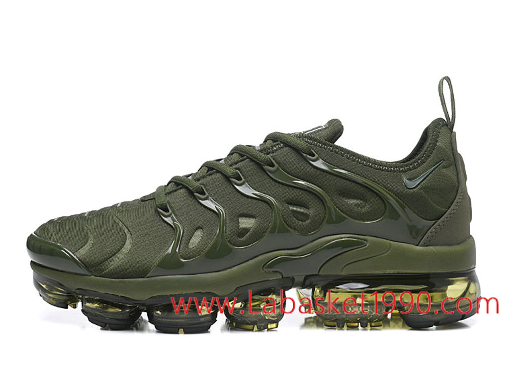 f09b8e0b9d1 Nike Air VaporMax Plus AO4550-ID6 Chaussures Nike 2018 Pas Cher Pour Homme  Vert