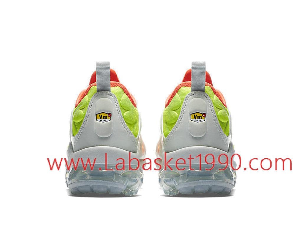 san francisco b7a53 db0be ... Nike Air Vapormax Plus Chaussures Officiel 2018 Pas Cher Pour Homme  Orange Blanc AO4550-003