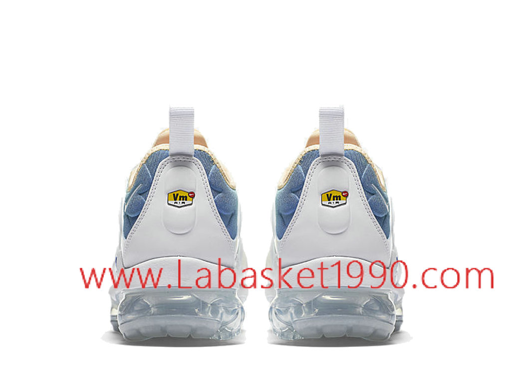 new arrival 1140f 40051 ... Nike Air VaporMax Plus Chaussures Officiel Prix Pas Cher Pour Homme  Blanc Bleu AO4550-100