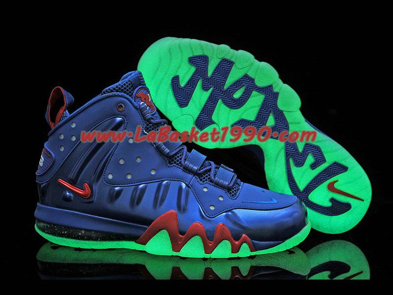 uk availability e63cb dbd88 ... Nike Barkley Posite Max 555097-300 Chaussures Nike Basket Pas Cher Pour  Homme Bleu Rouge