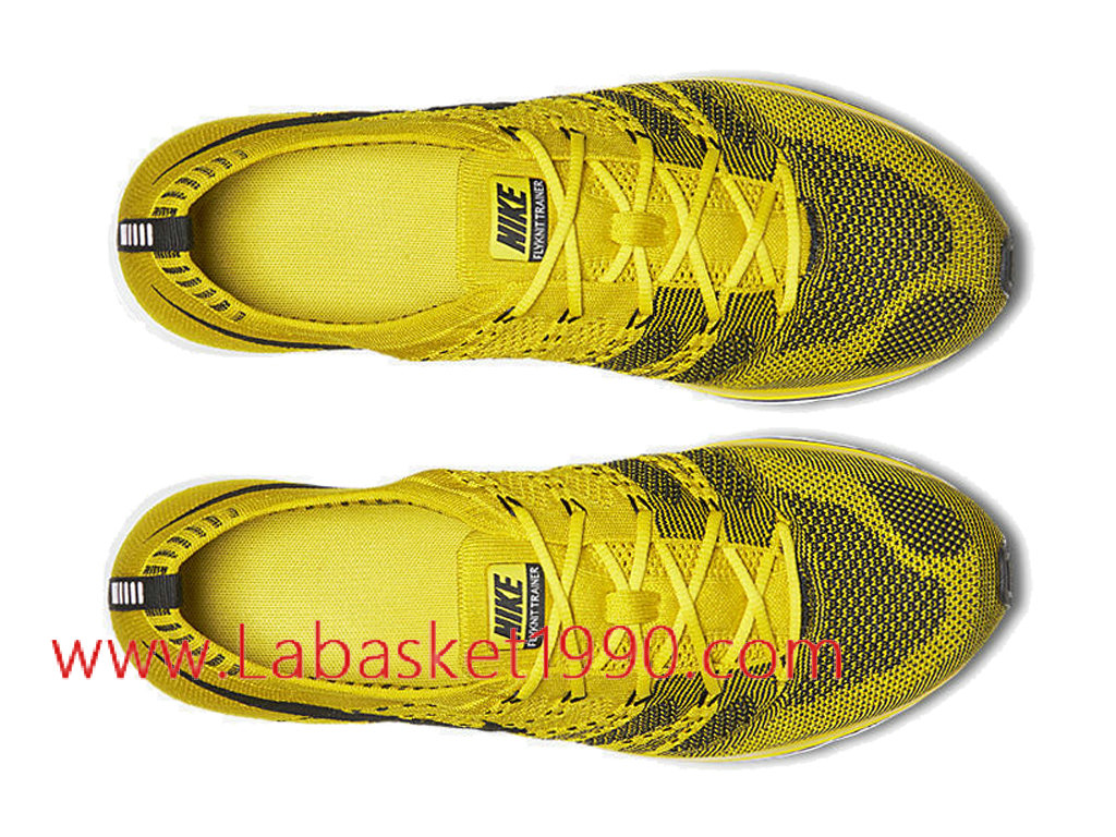 detailed look daba9 d4b37 ... Nike Flyknit Trainer Bright Citron AH8396-700 Chaussures Nike Running  Pas Cher Pour Homme Jaune ...