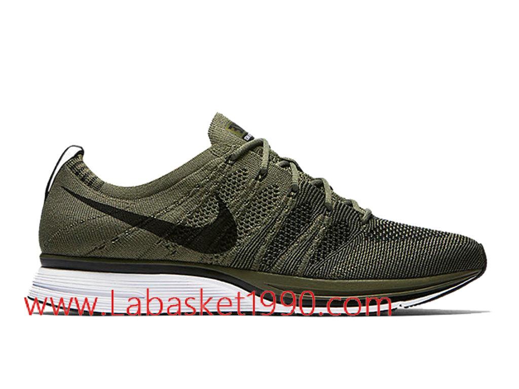 chaussures nike running blanche et verte