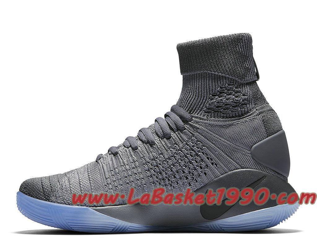 d23d3c88ad61 ... Nike Hyperdunk 2016 Flyknit 843390-002 Chaussures Nike Prix Pas Cher  Pour Homme Gris Noir ...