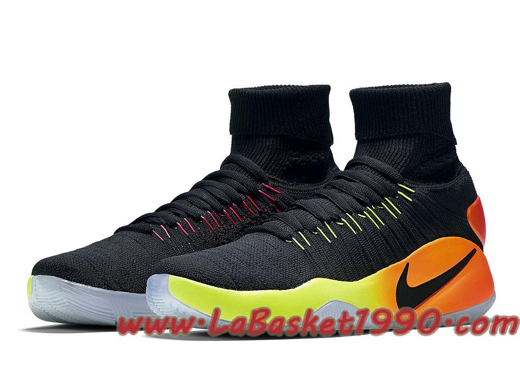 0613bc3a7ebc ... Nike Hyperdunk 2016 Flyknit Unlimited 843390-017 Chaussures Nike Basket  Pas Cher Pour Homme Noir ...