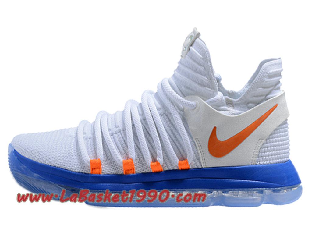 sale retailer 3969d 57a63 Nike KD 10 Prix Chaussures de BasketBall Pas Cher Pour Homme Blanc Bleu