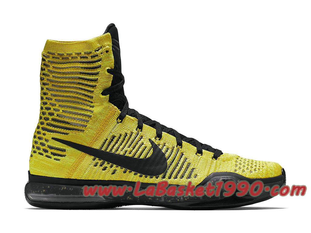 Nike Kobe 10 Elite Opening Night 802762 707 Chaussures Nike Basket Pas Cher Pour Homme Jaune Noir 1709130136 Chaussure Basket Homme Nike | Nike