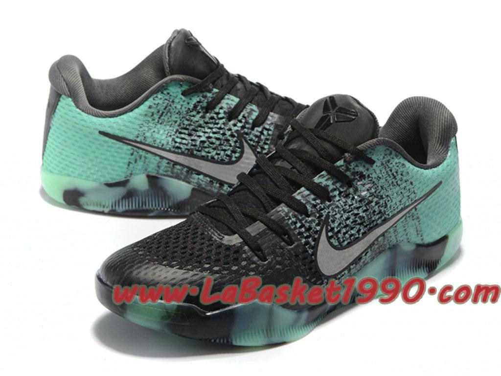 new product 91d01 7815e ... hot nike kobe 11 gs chaussures nike basket pas cher pour femme noir  vert c7e6e 919d5