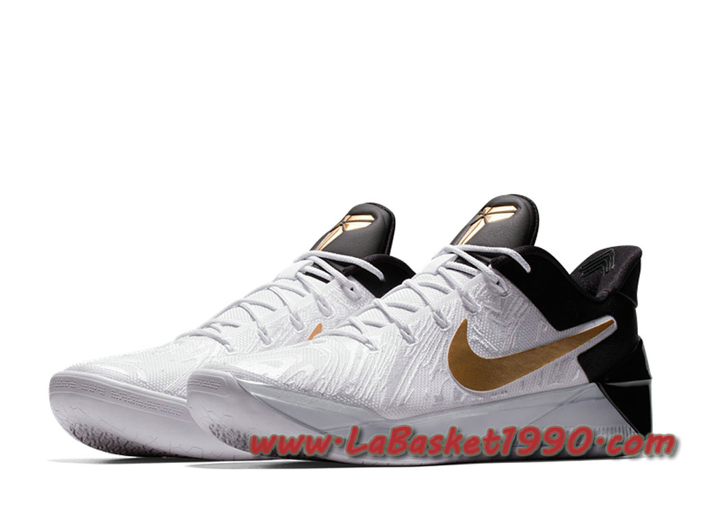 reputable site 64336 dc40b ... best price nike kobe a.d. bhm chaussures nike basket pas cher pour  homme blanc or e5866 ...