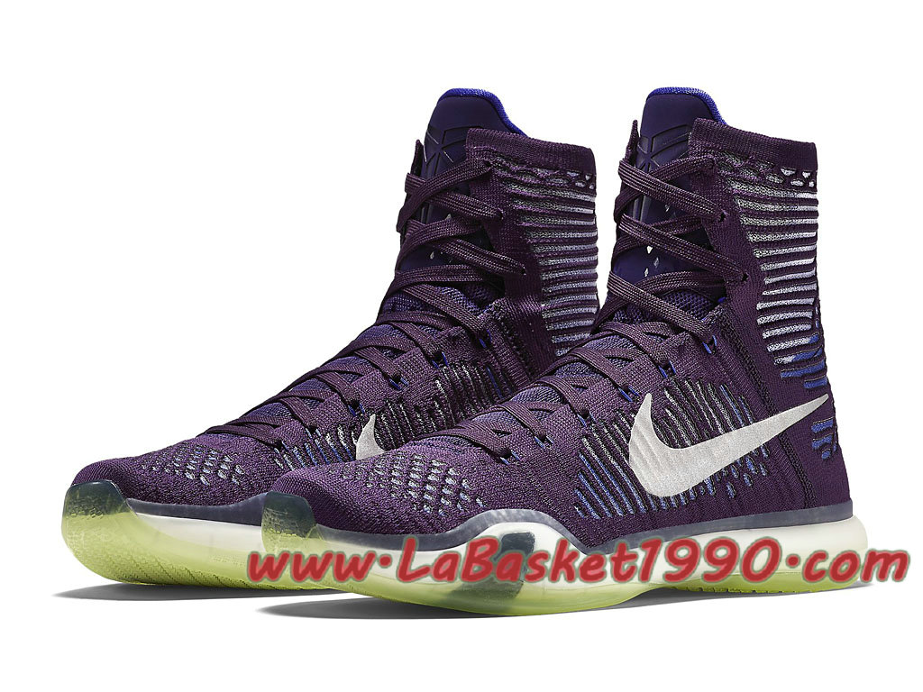 on sale a1927 fdee3 ... Nike Kobe X Elite Ignite 718763-505 Chaussures Nike Basket Pas Cher Pour  Homme Violet ...
