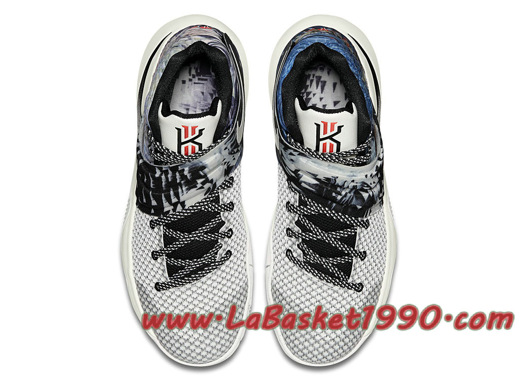 new style 2277c e5bc6 ... Nike Kyrie 2 Effect 819583-901 Chaussures Nike Basket Pas Cher Pour  Homme Blanc Noir ...