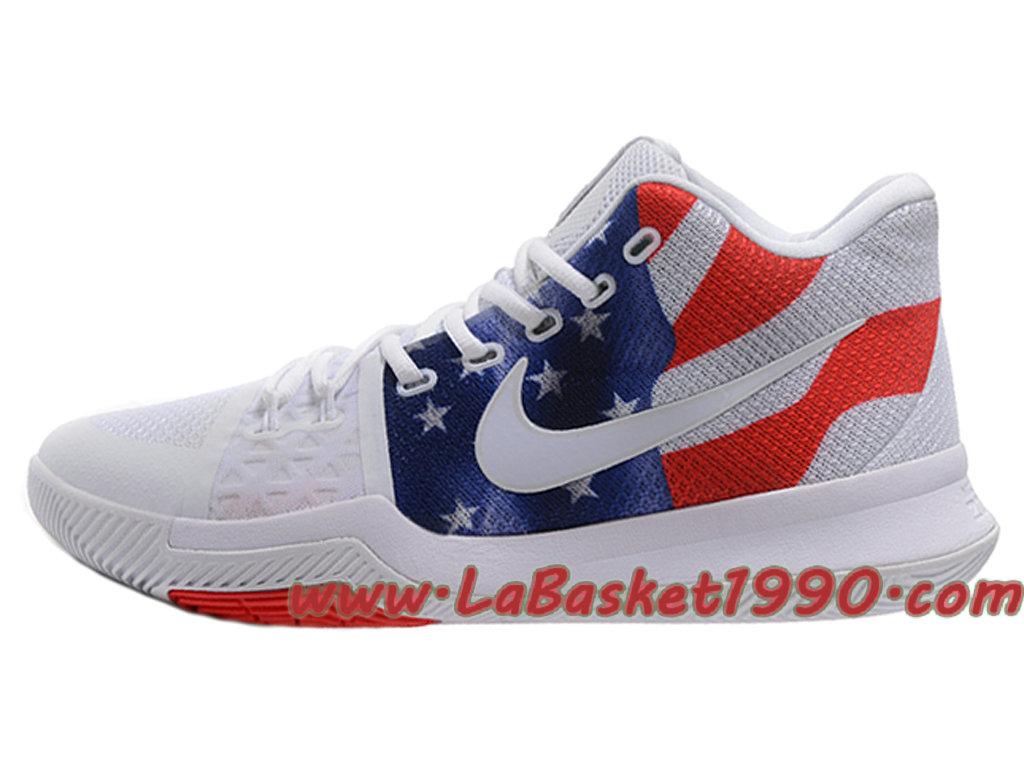 quality design b2c23 85d70 ... Nike Kyrie 3 ID Chaussures de BasketBall Pas Cher Pour Homme Blanc  Rouge Bleu ...