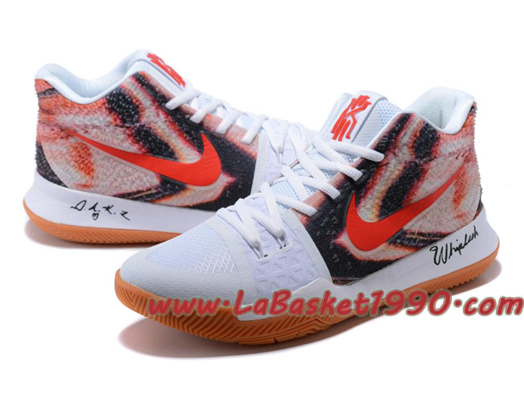 buy popular a84da d65c3 ... Nike Kyrie 3 ID Chaussures de BasketBall Pas Cher Pour Homme Blanc Rouge  Noir ...