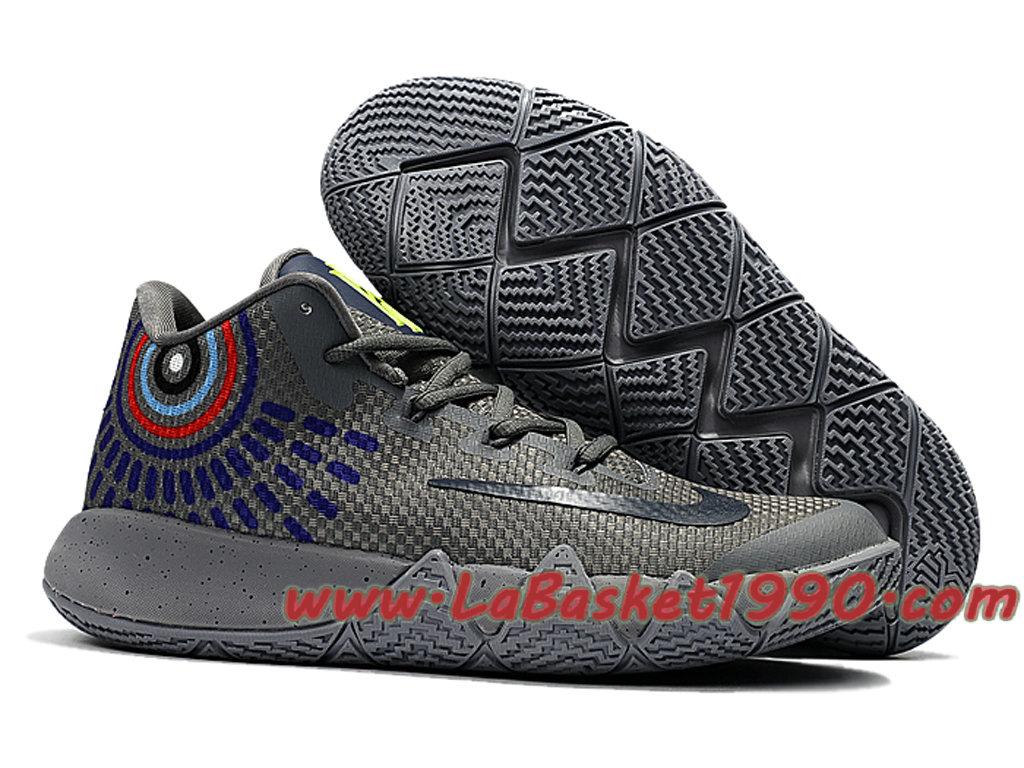 e66c2eb158f8 ... Nike Kyrie 4 - Chaussures de Basketball Pas Cher Pour Homme Gris Noir  ...